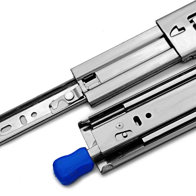 Heavy Duty Three Fold Full Extension Self Locking Telescopic Slide for Drawer